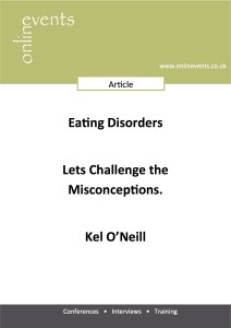Eating Disorders – Lets Challenge the misconceptions - Kel O'Neill Front Cover